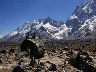 Trek na Machu Picchu, sedlo pod vrcholem Salkantay 4600 m