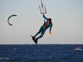Kitesurfing na pobřeží Atlantického oceánu