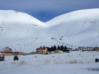 Lyžařské středisko Cedars na svazích Džabal Makmel