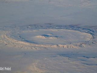 Pohled z letadla poblíž Bajkalu