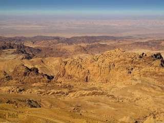 Krajina v okolí skalního města Petra