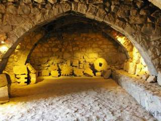 Interiér hradu Qasr Azraq
