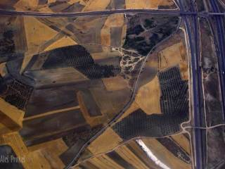Okolí Madridu, pohled z letadla