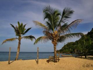 Pláž v okolí vesnice Capurganá, Kolumbie