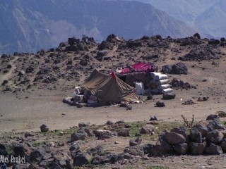 Příbytek pastevců v pohoří Elborz
