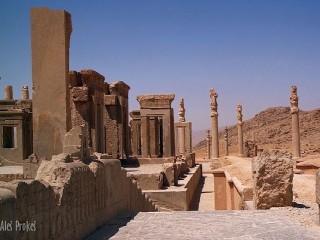 Perseopolis, zbytky paláce Tachara