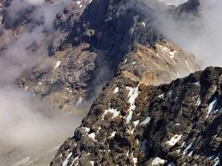 Pohled z Zugspitze (2962 m) nejvyšší hory Německa