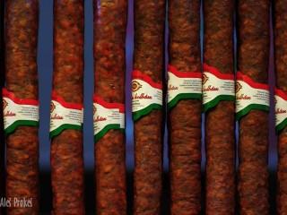 Maďarská klobása, Velká tržnice (Vásárcsarnok), Budapešt