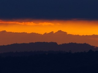 Západ slunce u Brna