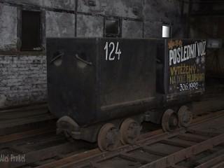 Dolní Vítkovice, poslední vytěžený vagón dolu Hlubina