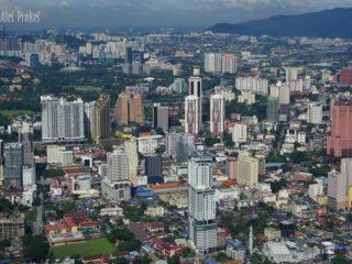 Pohled z Petronas Twin Tower, Kuala Lumpur