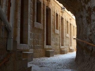 Interiér Kláštera na hoře pokušení, Jericho, západní břeh Jordánu
