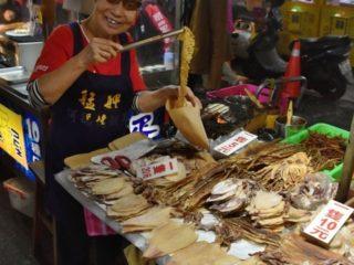 Hadí alej, večerní tržiště, Taipei