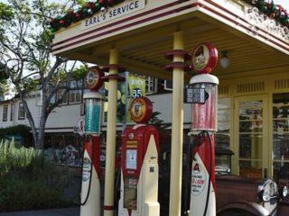 Replika benzínové pumpy, Farmářské trhy, LA